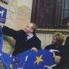 Avec Les Ministres de la Culture du Portugal et de la Grèce dévoilant le label européen à l'abbaye de Cluny
