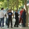 Discussion avec des jeunes au Sanitas