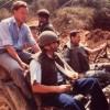 1989 - Avec François Léotard près de la frontière syrienne au Liban